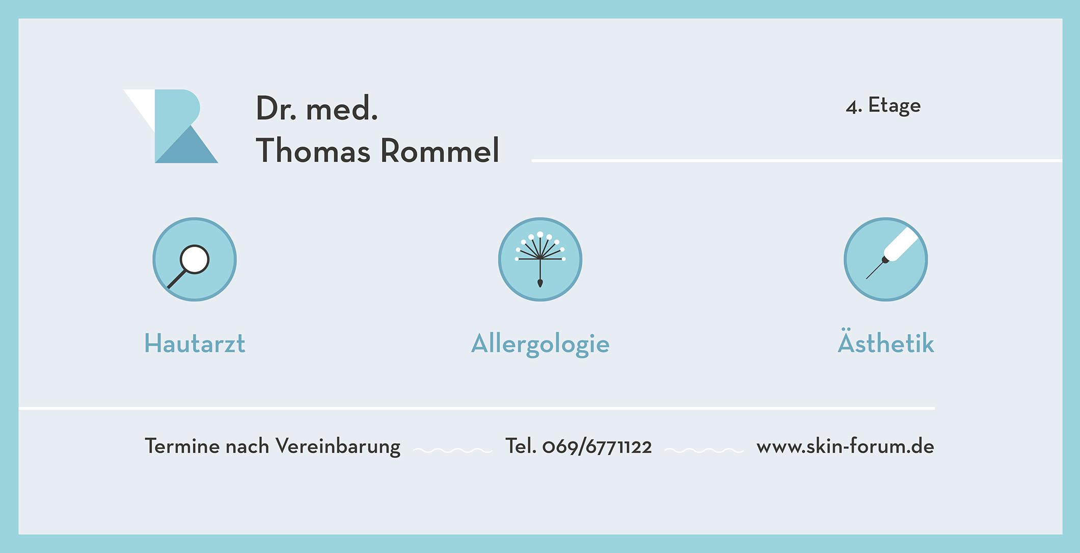 Dr. med. Thomas Rommel, Frankfurt am Main + Berger Studios, Max Berger, Maximilian Berger, Werbeagentur, Design, Cinema, Web, Kunst, Grafikdesign, Videoproduktion, Webdesign, Kunstverkauf, Digitale & Analoge Werbung aus einer Hand